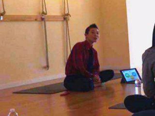 日本代表トレーナーへのアスリートヨガ指導